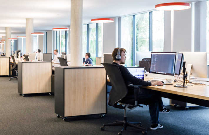 Claerhout open landscape office space